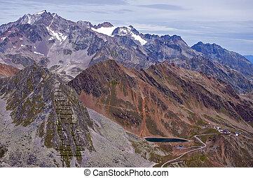 Mountains around Soelden resort in Otztal, Tirol, Austria
