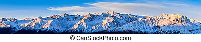 Mountains at day break