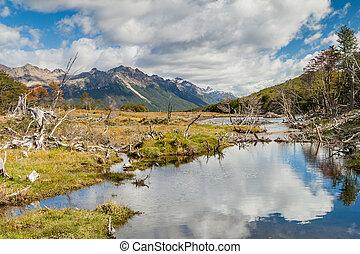 Tierra del Fuego - Mountains at Tierra del Fuego, Argentina