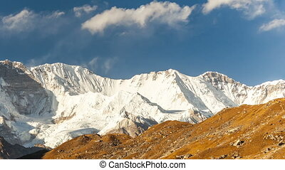 mountains Cho Oyu, Himalayas, Nepal. - mountains Cho Oyu,...