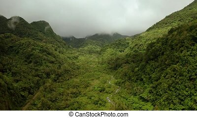 Mountains covered with rainforest, Philippines, Camiguin. -...