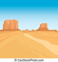 Mountains desert landscape background