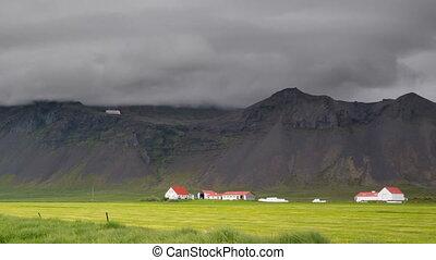 Mountains farms