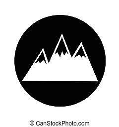 Mountains Icon illustration design