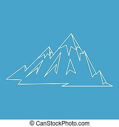 Mountains icon, outline style