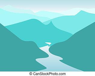 Mountains - Illustration of mountains