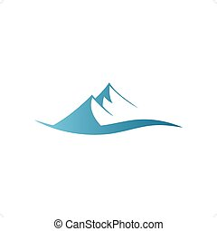 Mountains - Stylized blue mountains sign vector illustration...