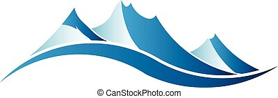mountains, image., logo