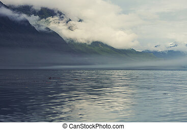 Valdez - Mountains in Alaska, Valdez, USA