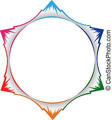 Mountains in circle