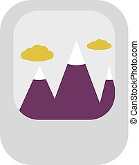 Mountains In Clouds Icon Vector