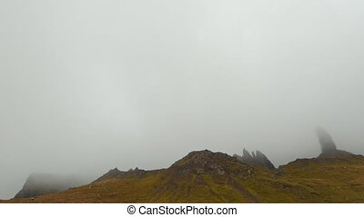 Mountains in mist - old man of storr, Isle of Skye, Scotland...