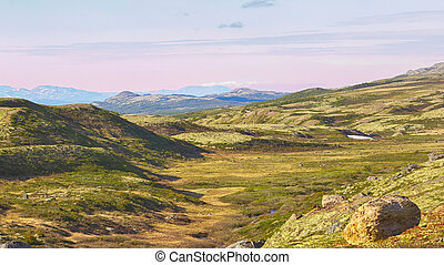 Mountains in Oppdal Area, Norway