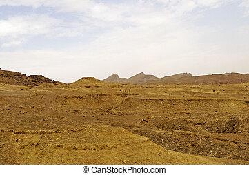Mountains in Sahara desert, Tunisia