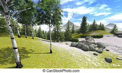 Mountains in spring time