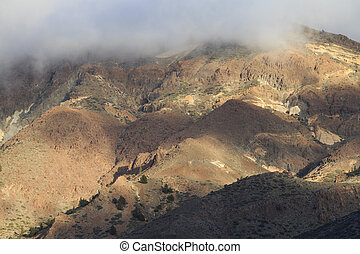 Mountains in Teide National park day time