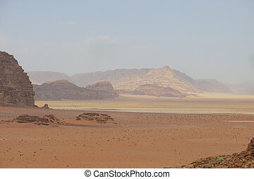 desert called Wadi Rum in Jordan in the Middle East