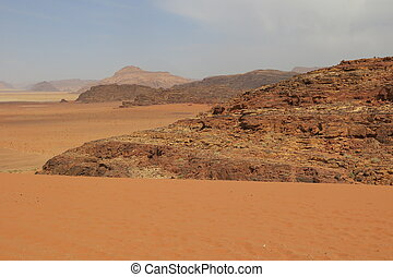 Mountains in the desert in Jordan