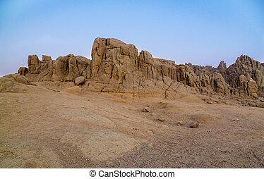 Mountains in the desert of Egypt