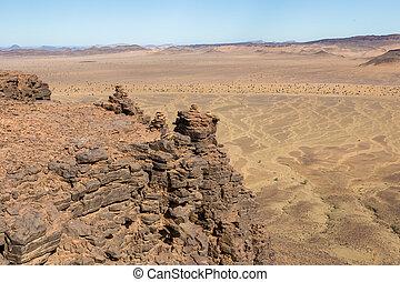mountains in the Sahara desert