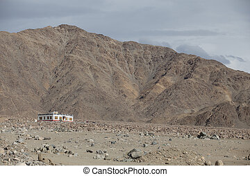 Mountains in the town of Leh, India