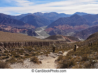 Mountains in Tilcara, Argentina - Argentina, Jujuy Province...