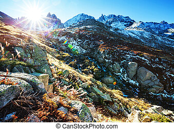 Mountains in Turkey - Autumn season in Kackar Mountains in...