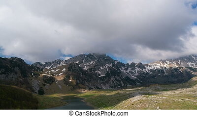 Mountains inside a national park Durmitor, Montenegro - time...