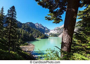Mountains lake - Serenity lake in the mountains