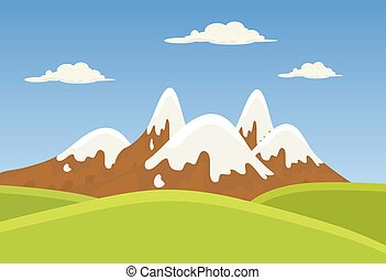 mountains landscape beautiful banner wallpaper design...