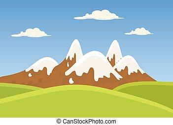 mountains landscape beautiful banner wallpaper design...