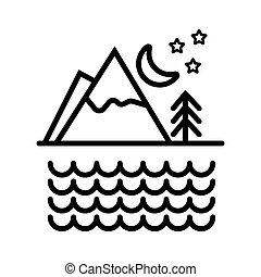 Mountains landscape icon vector illustration