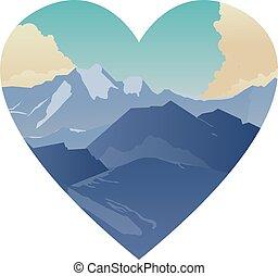Mountains landscape illustration - Mountains landscape...