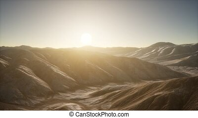 Mountains landscape in Afghanistan at sunset