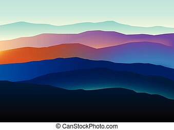 Mountains landscape in beautiful colors