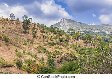 Mountains landscape in Guatemala. - Landscape view at the...