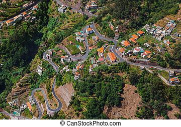 Mountains landscape - Madeira Portugal - travel background
