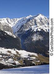 Mountains landscape near Annecy, France