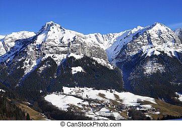 Mountains landscape near Annecy, France - Mountains...
