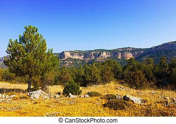 Mountains landscape of Sierra de Cuenca