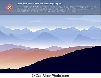 Mountains landscape template. Vector.