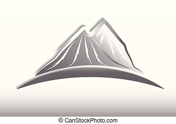 mountains, logo, design