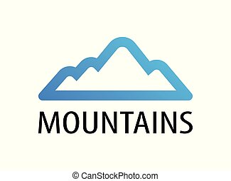 Mountains logo emblem for tour decoration - Vector illustration of travel to Mountains.