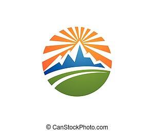 mountains, logo