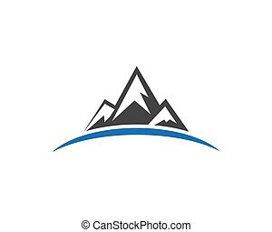 Mountains Logo - High Mountain icon Logo Business Template...