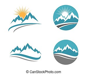Mountains Logo Template - High Mountain icon Logo Business...