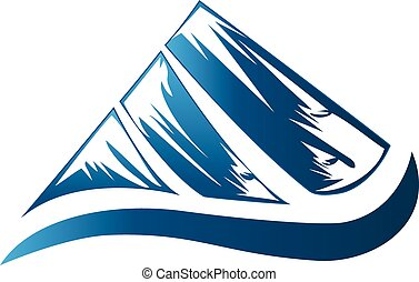Mountains logo - Blue mountains logo
