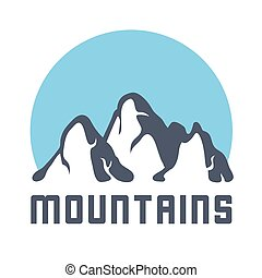 Mountains logo, vector illustration