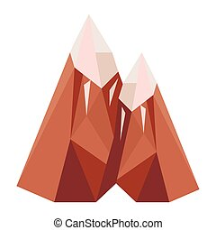 mountains and ice lowpoly style