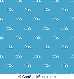 mountains, mönster, seamless, blå